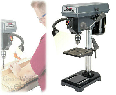 5 Speed Bench Pillar Drill Press for Wood or Metal Hobby Portable Pedestal Drill