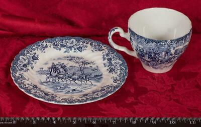 Vintage Tea Cup & Saucer Coaching Scenes Johnson Bros mbh