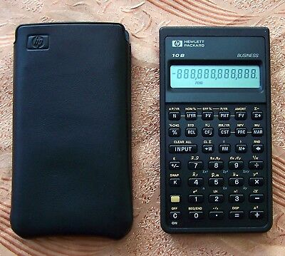 Hewlett Packard Hp 10B Business Calculator 1987 - PASSED SELF TEST (11c 12c 10)