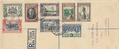 SOUTHERN RHODESIA to South Afrika registered cover 1940 UMTALI