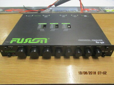 Fusion Graphic Equaliser Same As Caliber Cxq1 Front Rear And Sub Out Alpine Jl