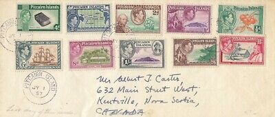Pitcairn Islands to Canada cover 1957