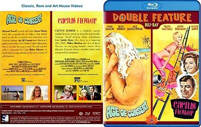 Age of Consent/Cactus Flower ~ New Blu-ray ~ Helen Mirren (1969) MCE
