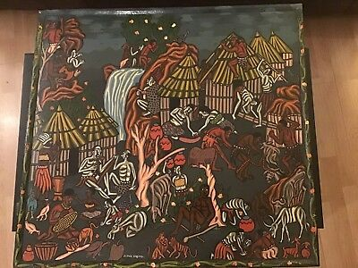 Massive Unique Painted STORY BOARD Signed David Chigumira Zimbabwe CollectorRARE