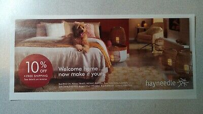Hayneedle 10% off coupon exp 4/30/2019