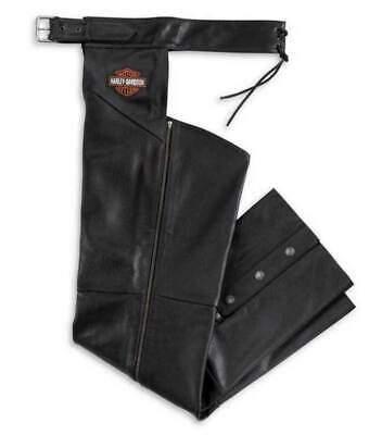 Harley-Davidson: Men's Bar & Shield Stock Leather Motorcycle Chaps Size: X-Large