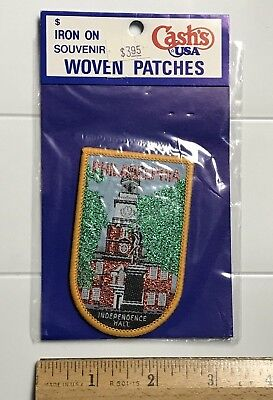 NIP Independence Hall Philadelphia PA Souvenir Metallic Thread Woven Patch Badge