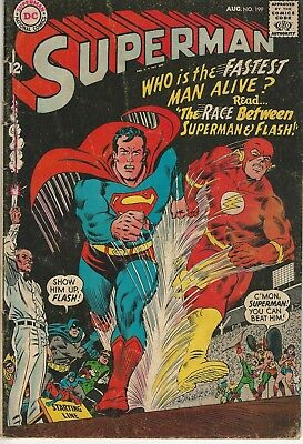 DC Comics Superman Vol 1 (1939 Series) # 199 VG/FN First Flash Race