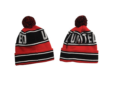 United  Style  Adult  Bobble Hat  (Red Black and White)   FREE (UK) P+P