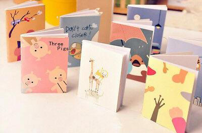 Mini Portable Cartoon Notebook Handy Pocket Notepad Paper Journal Diary WOW