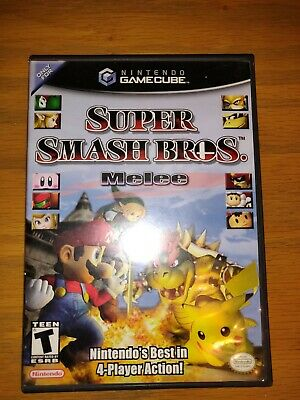 Super Smash Bros. Melee (Nintendo GameCube, 2001) US DISC AND CASE Video Game
