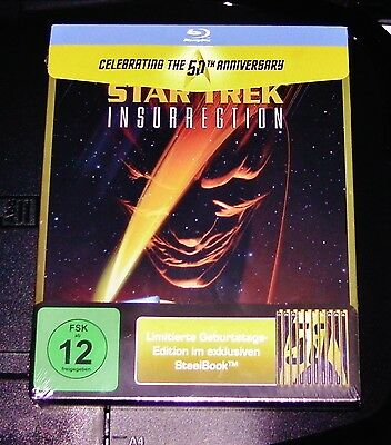 Star Trek Der el Levantamiento/Insurrection Limitada Marcado Steelbook Blu-Ray