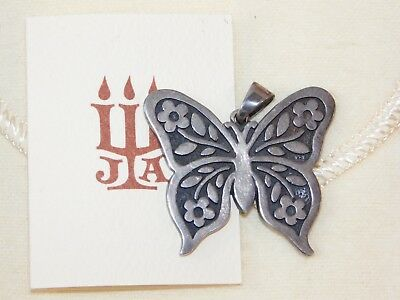 VTG JAMES AVERY STERLING SILVER BUTTERFLY PENDANT w/ BAG BOX PAPERS