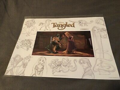 Limited Edition Disney Tangled Lithograph of Rapunzel & Flynn Rider Matted COA