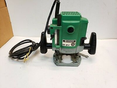 "Hitachi M8V 1/4"" Plunge Variable Speed Router, 10,000-25,000 RPM, 7.3 Amp"