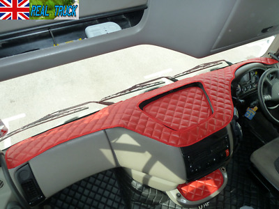 Truck Eco Leather Dash Mat Fit Daf Xf 105 - Red