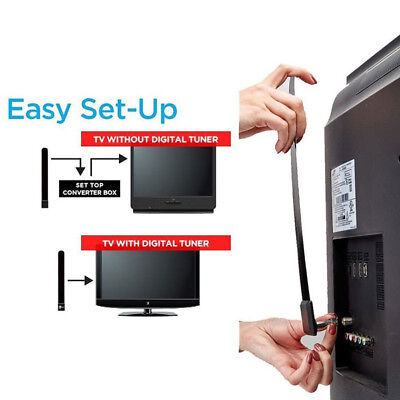 1080p Clear TV Key HDTV 100+ Free HD TV Digital Indoor Mini Antenna Ditch Cable