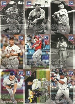 2019 Topps Series 1 Greatest Moments/Seasons/Players *Complete Your Set* $1.99