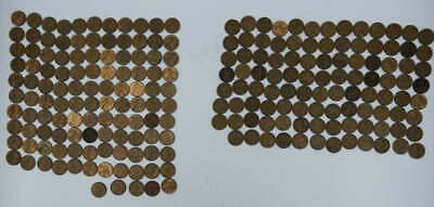 218 Unsearched Us Wheat & Memorial Cent Penny Collection 115 Wheat &105 Memorial
