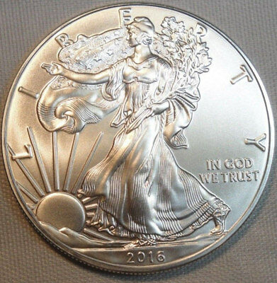 2016 Silver Eagle Dollar REAL NICE BU Brilliant CHOICE GEM UNC UNCIRCULATED 1OZ: