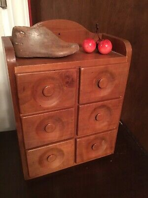 early primitive old spice cabinet box can set or hang