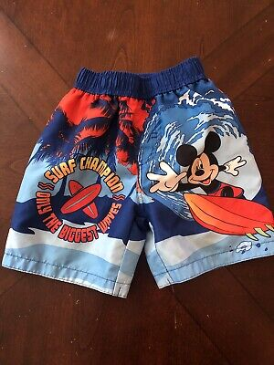 adaa11e08d DISNEY BABY BOY Swim Trunks 24m Surf Mickey Mouse - $2.12 | PicClick