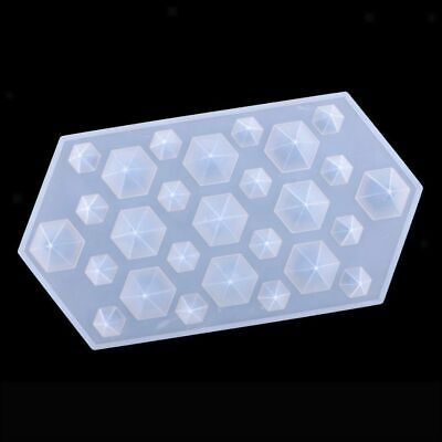Diamond Silicone Mould Jewelry Pendant Resin Casting Craft Making Mold DIY Kit