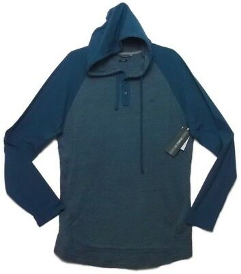 O/'Neill Men/'s Weddle Light Weight Black//White L//S Pull Over Hoodie Retail $50