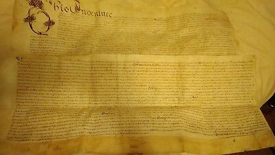 1660's document on thick vellum paper