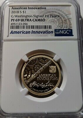 2018 S Proof American Innovation Dollar $1 NGC PF 69 Ultra Cameo