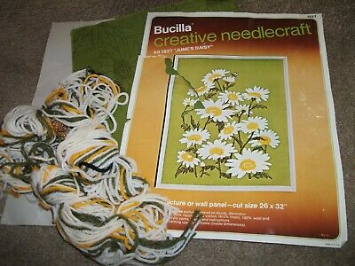 """"""" June Daisy """" Vintage Embroidery Kit  22"""" X 28 """""""