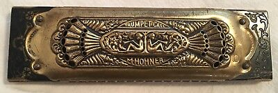 Vintage 1930s M. Hohner Trumpet Call 32-Hole Double Harmonica, Germany, A & D