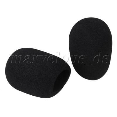 5 Pcs Black Microphone Windscreen Pop Filter Sponge Foam Wind Shield Mic Cover