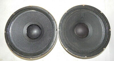 "PAIR cetec Gauss 5842 15"" woofers, reconed, working"