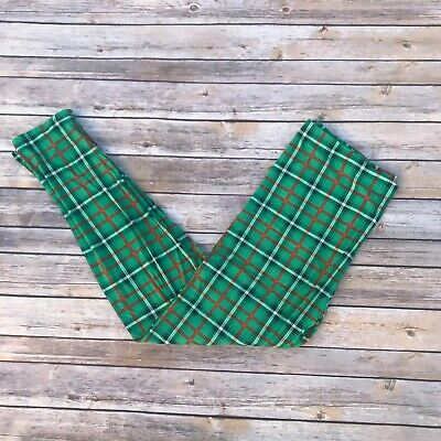 Green Red /& White Plaid St Patrick/'s Women/'s Leggings Extra Plus Size TC2 18-24