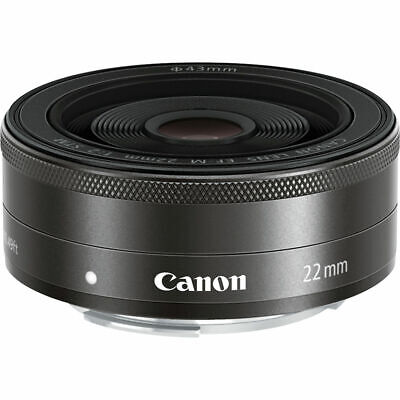 Canon EF-M 22mm f/2 STM Lens Black for EOS M Mirrorless Camera