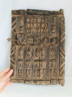 Antique African Dogon Carved Granary Door. Mali. Exquisite Wall Decor