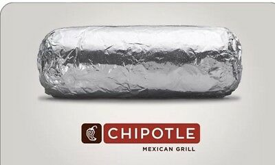 Chipotle Gift Card $30 * Great Gift!