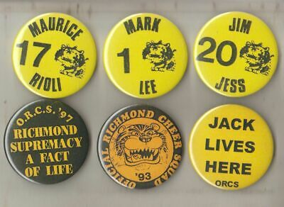 Richmond Fc -Afl- Collectors Team Supporters / Cheer Squad  Metal Buttons  New