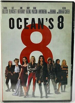 Ocean's 8 (DVD, 2018) [Brand New Sealed] [Free Shipping / Ships within 24 Hours]