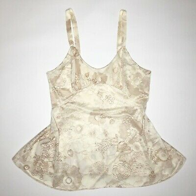 Vintage Sears Cami Camisole Sz M Under Shirt Top Silky Nylon Fabric Undergarment