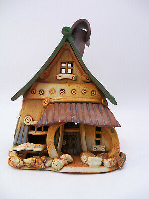 Windy Meadows Studio Art Pottery Gone Fishing House Candle Holder