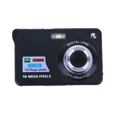 18MP 2.7in TFT LCD Digital Camcorder Camera DV 8X Digital Zoom HD(Black UK)