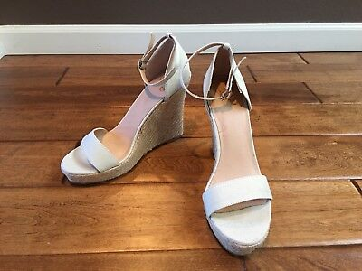 122236d1bed601 NEW Victorias Secret Colin Stuart Wedge Espadrilles Size 10 Flax Linen Beige  Tan