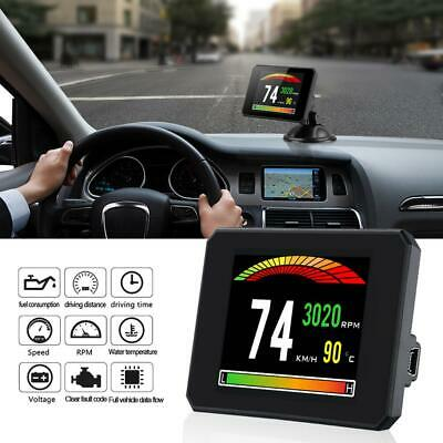 3.9Inch TFT Color Screen Head Up Display OBD2 Car HUD Speedometer RPM Meter