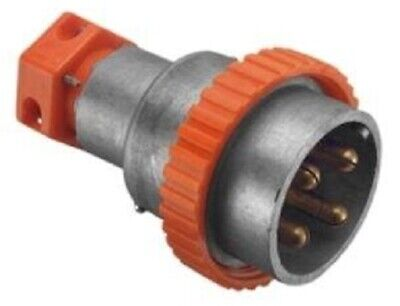 Wilco STRAIGHT MULTI PHASE PLUG WILP432 500V 32A 4-Round Pin, Screw Ring