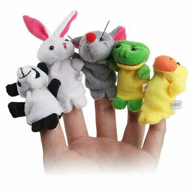 10Pcs Pack Baby Kids Finger Animal Educational Story Toys Puppets Cloth Plush