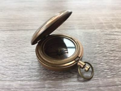 Nautical Brass Dalvey Style Compass - Old Vintage Nautical Pocket Necklace Gift