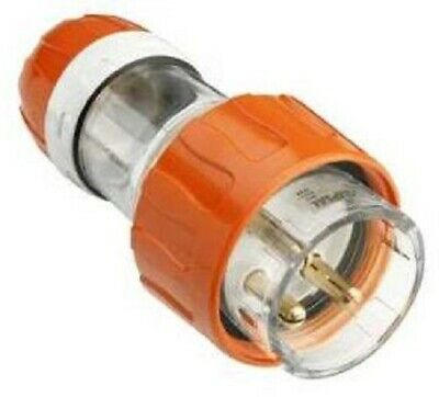Clipsal STRAIGHT PLUG 20A 250V 1Phase 3-Round Pin Quick Connect, Electric Orange