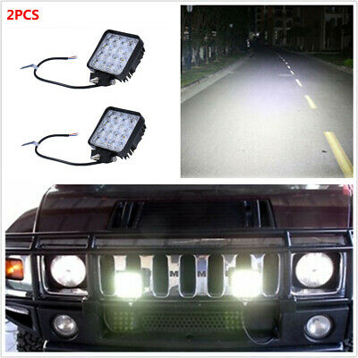 2PCS 48W Flood LED Work Light For Off-Road Boat Truck 4WD 4X4 ATV SUV UTE Cabin